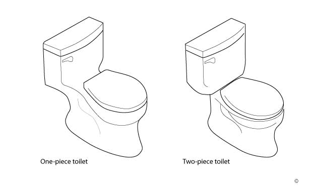 One Piece Toilets On The Other Hand Are Generally More Expensive But They Often Easier To Clean And May Provide A Smoother Or Sleeker Earance